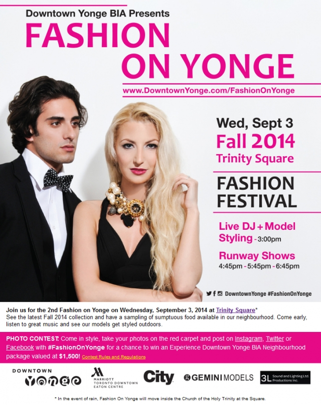 Fashion on Yonge - Fashion Festival - Fall 2014 Collection